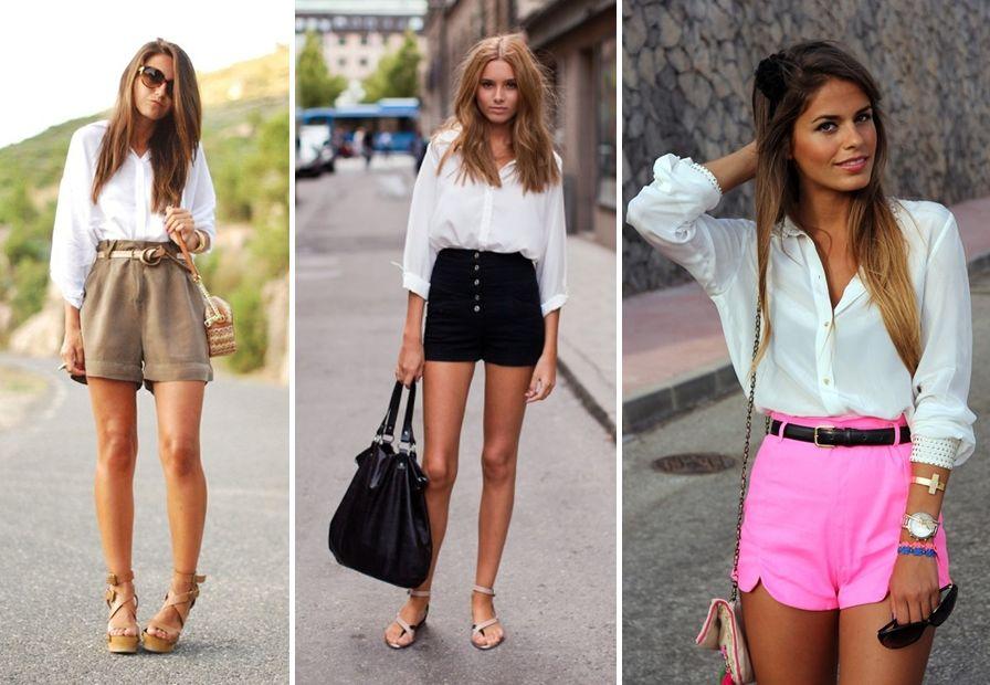 ea79e25d888f Sukne šortky biele. Dámske letné šortky - dlhé pod kolenom a mini ...