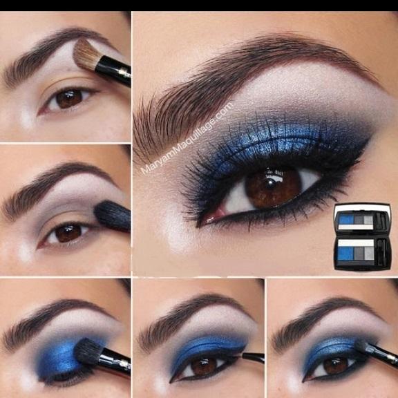 Maquillaje ojos para vestido azul oscuro