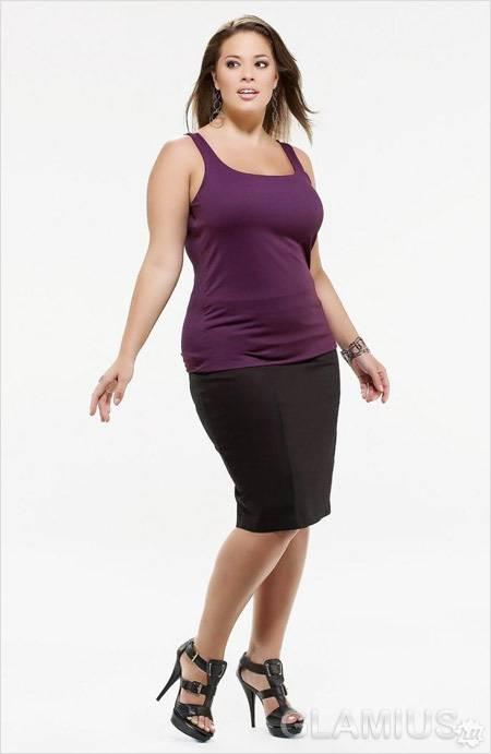 c855b76a411d Módne sukne šaty na plný. Móda pre obéznych žien