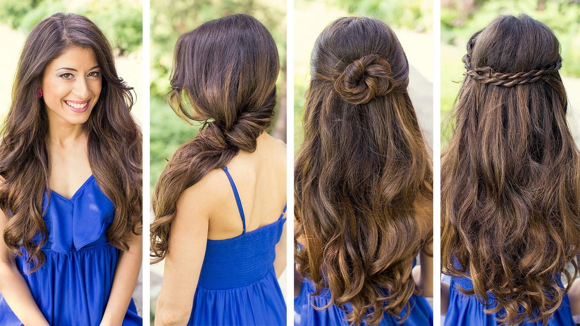Hairstyles with a rim on an elastic band - the perfect solution to change your image