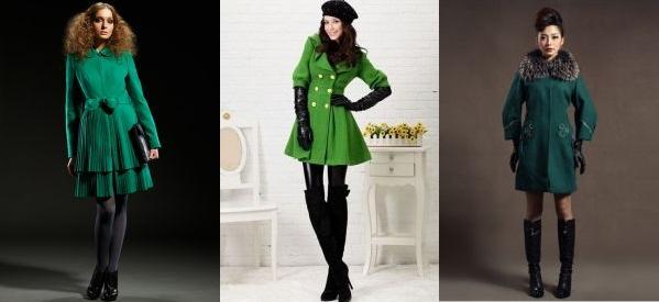 Ktorý golier na zimný zelený kabát. S čím nosiť zelený kabát bc9d84fd28a