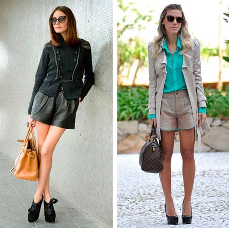 Med vad man ska ha på läder shorts - bilder av moderna kombinationer ... 1a2f32b86cb33