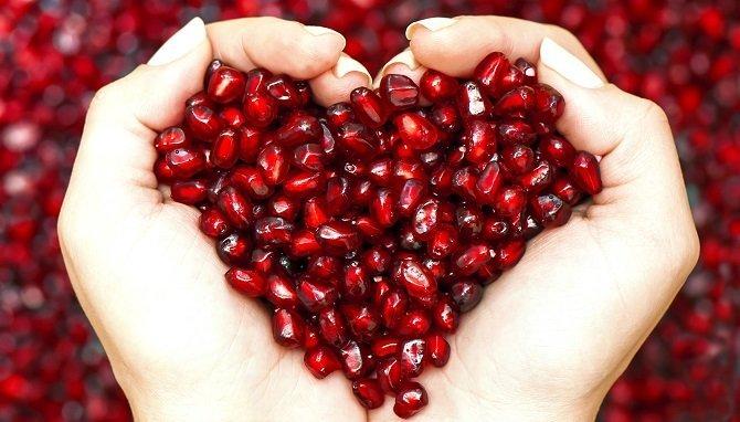 Resultado de imagen para granada roja protege el corazon