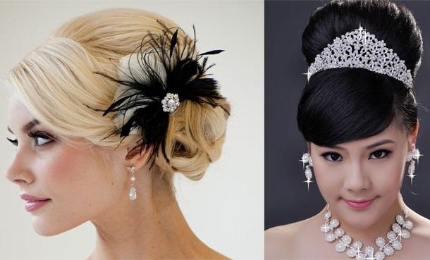 e1bea4eea V účes nevesty vyzerajú skvelé rozdielne vlasy a čelenky s prírodnými a  umelými kvetmi, ktoré dávajú dojem osobitnej romantiky.