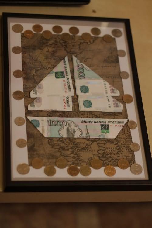 Картина с деньгами поздравление
