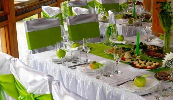 Decorarea Verde A Sălii Roșu Verde Nunta îmbrăcăminte De Nuntă în